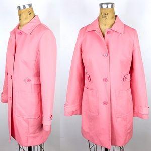 Ann Taylor LOFT Pink Twill Trench